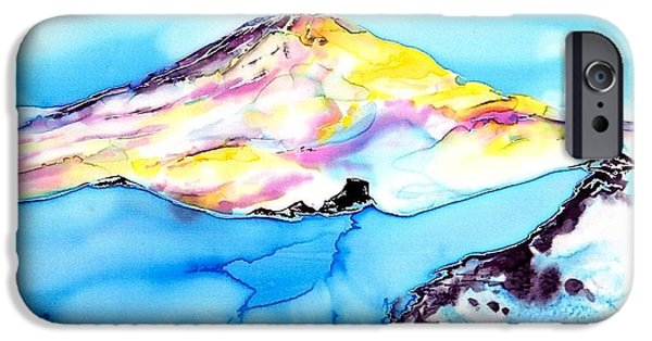 Clouds Tapestries - Textiles iPhone Cases - Caste Rock Antarctica iPhone Case by Carolyn Doe