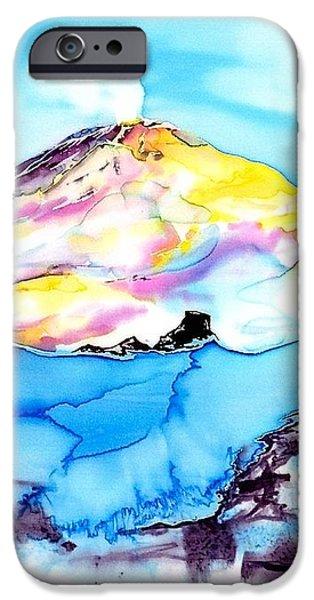 Caste Rock Antarctica iPhone Case by Carolyn Doe