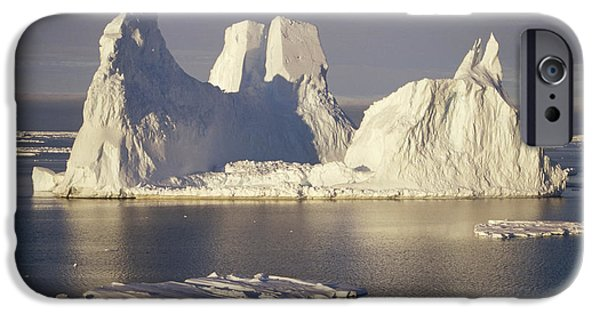 Kemp iPhone Cases - Castellated Iceberg East Antarctica iPhone Case by Tui De Roy