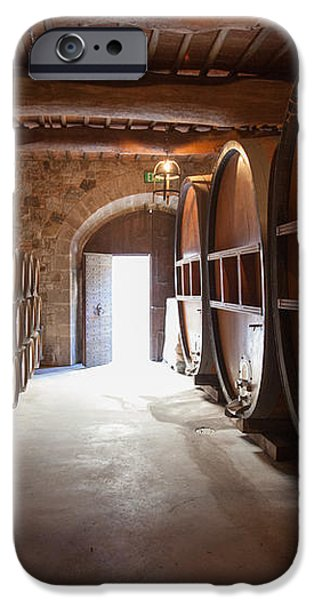 Castelle Di Amorosa Barrel Room iPhone Case by Scott Campbell