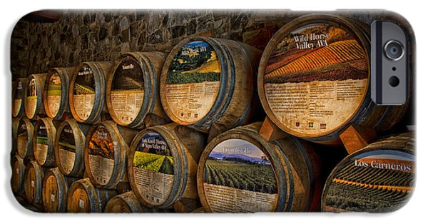 Business iPhone Cases - Castello di Amorosa of California Wine Barrels iPhone Case by Mountain Dreams