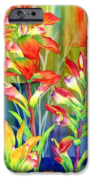In Bloom Paintings iPhone Cases - Castilleja Indivisa iPhone Case by Hailey E Herrera