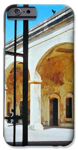 Historic Site iPhone Cases - Castillo San Cristobal iPhone Case by Diana Angstadt
