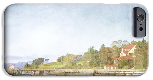 Maine iPhone Cases - Castine Harbor Maine iPhone Case by Carol Leigh