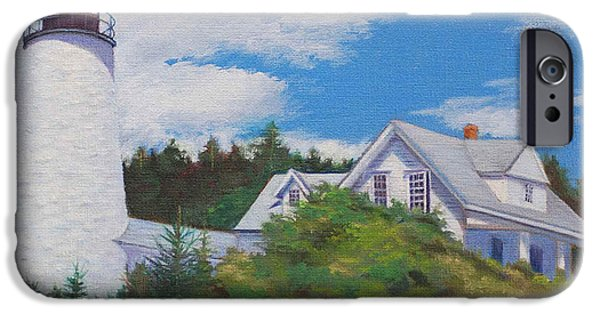 Penobscot Bay Paintings iPhone Cases - Castine Light iPhone Case by Judith McKenna
