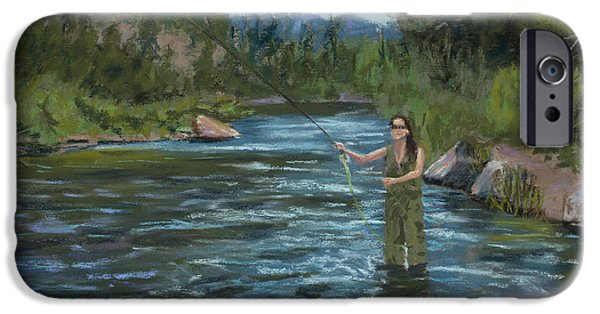 Creek Pastels iPhone Cases - Casting Call iPhone Case by Mary Benke