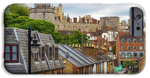 London iPhone Cases - Castle Above the Town iPhone Case by Tim Stanley
