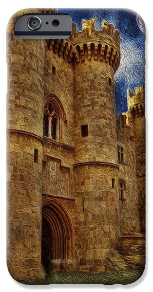 Prince Harry iPhone Cases - Castle by Moonlight iPhone Case by Lee Dos Santos