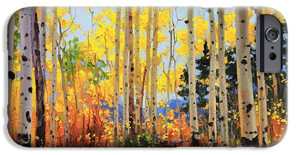 Tree Art Print iPhone Cases - Castle Creek Road iPhone Case by Gary Kim