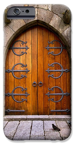 Castle Door iPhone Case by Carlos Caetano