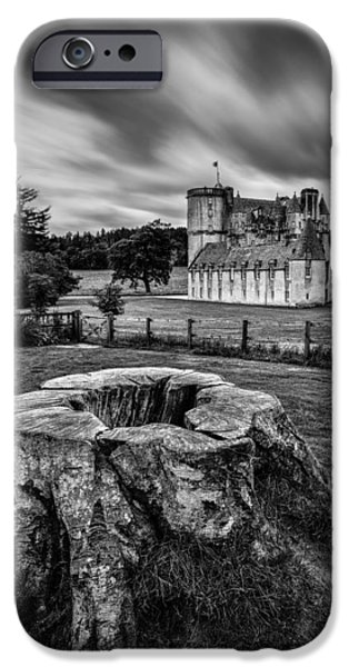 Dave iPhone Cases - Castle Fraser iPhone Case by Dave Bowman