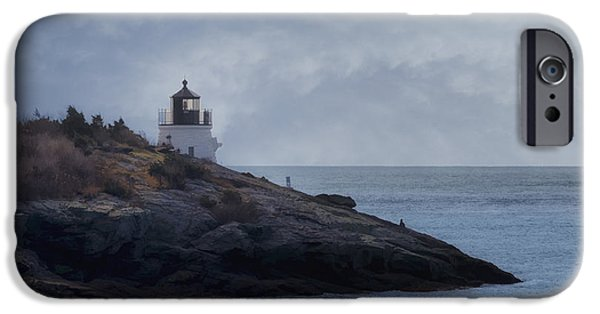 New England Lighthouse iPhone Cases - Castle Hill Dream iPhone Case by Joan Carroll