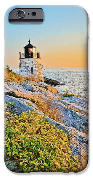 New England Lighthouse iPhone Cases - Castle Hill Lighthouse 1 Newport iPhone Case by Marianne Campolongo