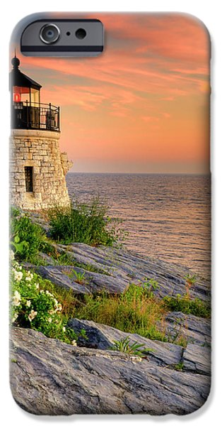 Lighthouses iPhone Cases - Castle Hill Lighthouse-Rhode Island iPhone Case by Thomas Schoeller