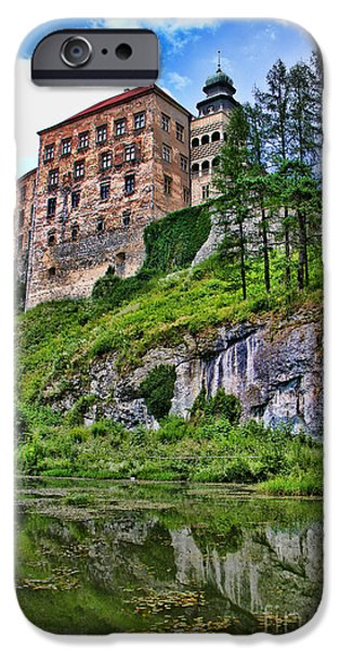 Town iPhone Cases - Castle in Pieskowa Skala iPhone Case by Mariola Bitner