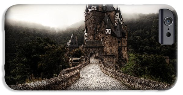 Castle iPhone Cases - Castle in the mist iPhone Case by Ryan Wyckoff