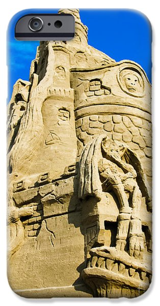 Sand Castles iPhone Cases - Castle in the Sand iPhone Case by Colleen Kammerer