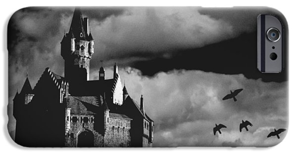 Dark Skies iPhone Cases - Castle in the sky iPhone Case by Bob Orsillo