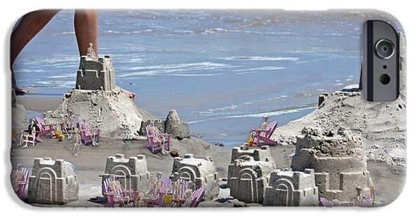 Sand Castles iPhone Cases - Castle Kingdom  iPhone Case by Betsy A  Cutler