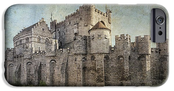 River View iPhone Cases - Castle of the Counts iPhone Case by Joan Carroll