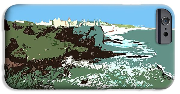 Ruin Mixed Media iPhone Cases - Castle On A Cliff Edge iPhone Case by Patrick J Murphy