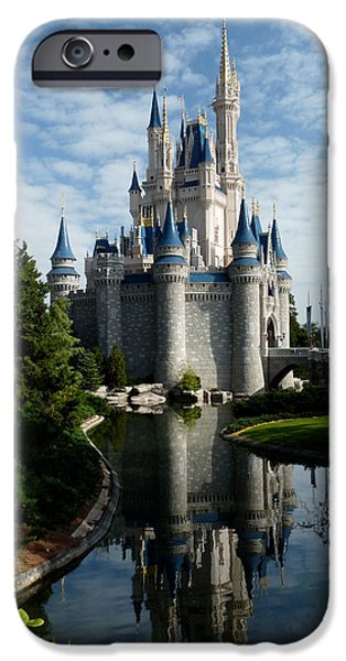 Magic Kingdom iPhone Cases - Castle Reflections iPhone Case by Nora Martinez