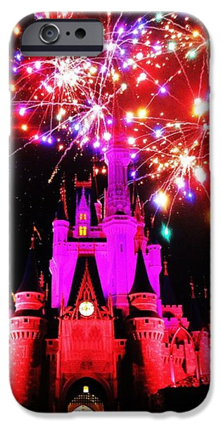 Magic Kingdom iPhone Cases - Castle Show iPhone Case by Benjamin Yeager
