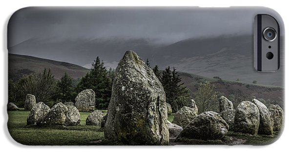 Ruin iPhone Cases - Castlerigg Stone Circle iPhone Case by Chris Fletcher