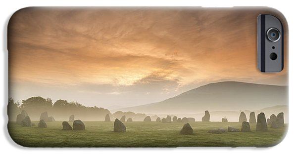 Vale iPhone Cases - Castlerigg Stone Circle Cumbria England iPhone Case by John Potter
