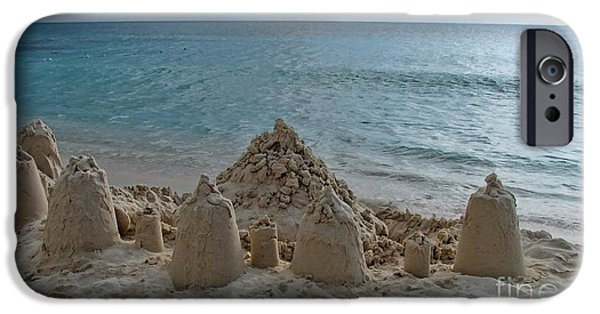 Sand Castles iPhone Cases - Castles In The Sand iPhone Case by Peggy J Hughes