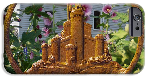 With Pyrography iPhone Cases - Castles In The Sky iPhone Case by Doug Kreuger