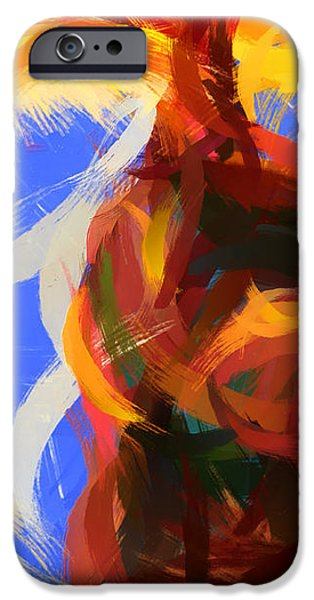 Cat abstract art iPhone Case by Pixel Chimp