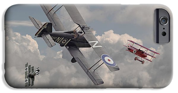 Fokker D V11 iPhone Cases - Cat among the Pigeons iPhone Case by Pat Speirs