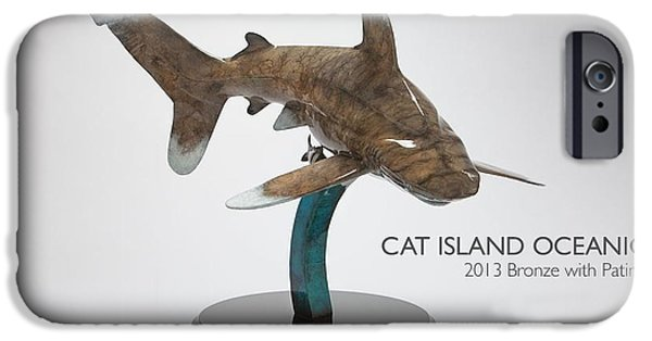 Shark Sculptures iPhone Cases - Cat Island Oceanic iPhone Case by Victor Douieb
