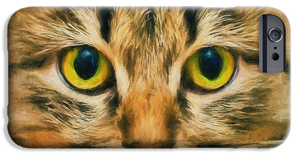 House Pet Digital Art iPhone Cases - Cat Mate iPhone Case by Yury Malkov