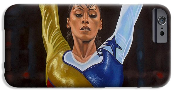 Summer Sports Paintings iPhone Cases - Catalina Ponor iPhone Case by Paul  Meijering
