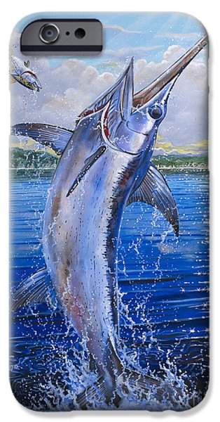 Swordfish iPhone Cases - Catalina Sword OFF0045 iPhone Case by Carey Chen