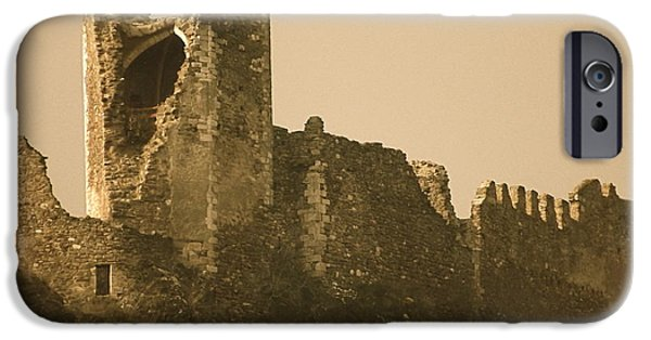 Cathar Country iPhone Cases - Catapult at LasTours  iPhone Case by France  Art