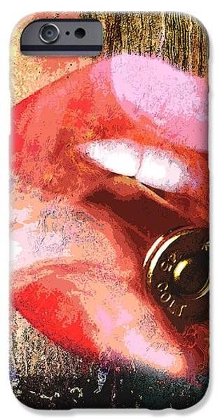 Colt 45 iPhone Cases - Catch A Bullet iPhone Case by Greg Sharpe