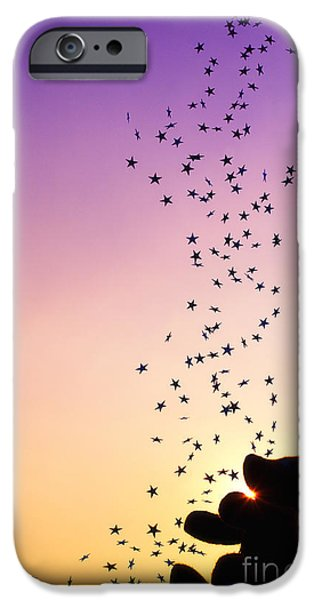 Innocence iPhone Cases - Catch a Falling Star iPhone Case by Tim Gainey
