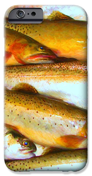 Catch of The Day - Painterly - v2 iPhone Case by Wingsdomain Art and Photography