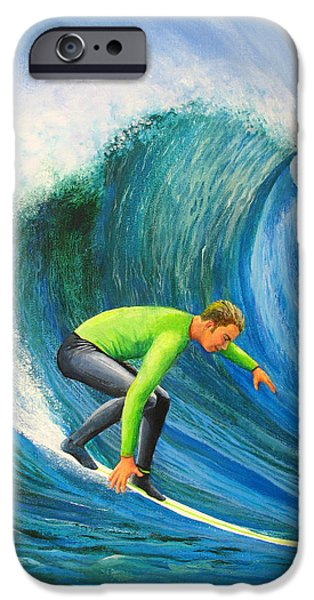 Steamer Lane iPhone Cases - Catch The Wave iPhone Case by Bev Martin