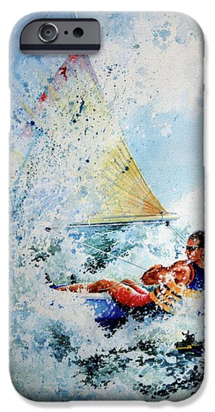 Sports Artist iPhone Cases - Catch The Wind iPhone Case by Hanne Lore Koehler