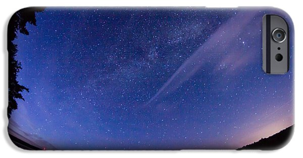 Constellations iPhone Cases - Catching the Milky Way Galaxy iPhone Case by Kirkodd Photography Of New England
