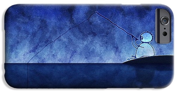 Animation iPhone Cases - Catching the Moon Under Water iPhone Case by Gianfranco Weiss