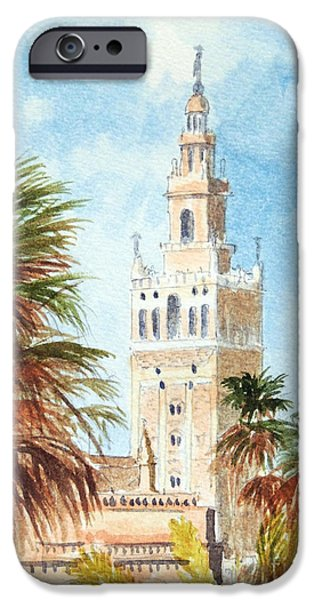 Christopher Columbus iPhone Cases - Catedral de Sevilla iPhone Case by Bill Holkham