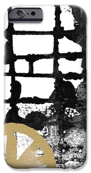 Corporate Art Mixed Media iPhone Cases - Cathedral- Abstract painting iPhone Case by Linda Woods
