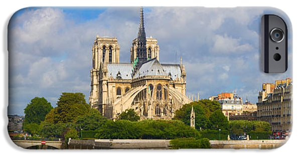 Notre Dame Cathedral iPhone Cases - Cathedral At The Riverside, Notre Dame iPhone Case by Panoramic Images