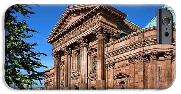 Facade iPhone Cases - Cathedral Basilica of Saints Peter and Paul iPhone Case by Olivier Le Queinec