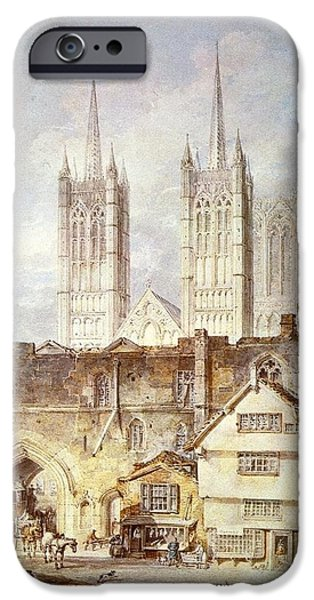 Cathedral church at Lincoln 1795 iPhone Case by Joseph Mallord William Turner